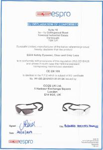 ES30 - Safety Eyewear, Clear & Grey Lens
